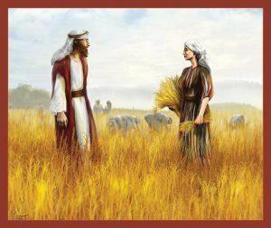 Рут и Вооз се запознават. Срещата помежду им е отразена в изкуството
